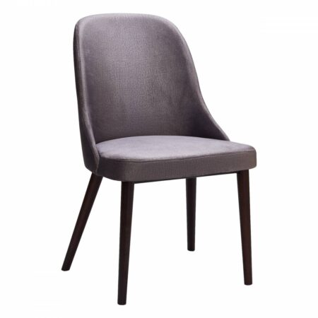gray upholstered chair with wood legs